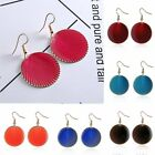 Retro Big Circle Round Shell Drop Dangle Hook Earring Women Party Jewelry Gift
