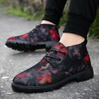 New Mens Fashion Casual Lace Up Athletic High Top Suede Canvas Ankle Boots