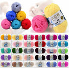 Baby Crochet 83 Colors Soft Milk Cotton Lot 50g Knitting Crochet Wool Yarn F0002