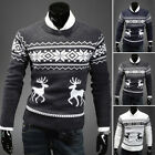 Christmas Sweater Vacation Elf Funny Men Sweatshirt Knitted Pullover Tops Size