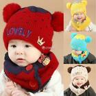 Baby Fashion Fleece Contrast Color Beanie Knitted Warm Winter Hat with DZ88