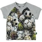 BNWT Boys Molo Eton Ball Net Baby T-shirt NEW Grey Cotton Top