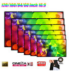 60//100/120'' HD 1080P 3D Projecor Screen 16:9 For HDTV MOVIE GAME Projection AU