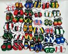 Boxing Gloves Country Flag Leather Look 9cm Mini Car Van Accessory Gift New