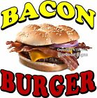 Bacon Burger DECAL (Choose Your Size) Food Truck Concession Vinyl Sign Sticker