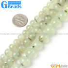 """Natural Green Prehnite Gemstone Round Beads For Jewelry Making Free Shipping 15"""""""