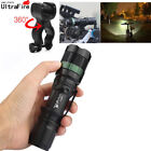 Military 30000LM Zoom T6 LED Flashlight Case Bike Bicycle Head Light Mount Clip
