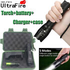 UltraFire50000LM XML T6 Zoomable LED Flashlight Torch&amp;18650 Battery+Charger Case <br/> Super Bright Flashlight &amp; Bike light!High Quality!Zoom!