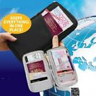 FULL ZIPPED CLOSURE TRAVEL BAG DOCUMENT ORGANISER PASSPORT TICKETS HOLDER WALLET