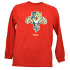 Florida Panthers Long Sleeve Red Tshirt Hockey Reebok Mens Crew Neck Sport $14.95 USD on eBay