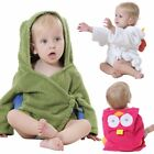 Green Cartoon 0-3 Years Baby Bath Hooded Kids Bathrobe SleepWear Cute Towel