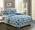 Clermont Navy/White Reversible Comforter Set image