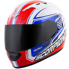 Scorpion EXO-T1200 Sight Full Face Helmet Red White Blue