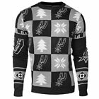 NBA Basketball San Antonio Spurs Patches Crew Neck Sweater