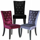 Radiance Dining Chairs Black, Silver, Purple Crushed Velvet Fabric