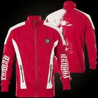 YAKUZA Jacke Skull Track Top ZB-11021 Ribbon Red Rot Jacken