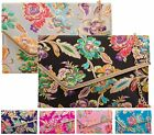New Ladies Flat Envelope Bridal Prom Party Evening Floral Embroidery Clutch Bag