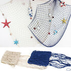 Sea Theme Party Mediterranean Style Fishing Nets Decorative Background Wall Bar