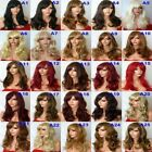 Fashion Women Medium Hair Full Wig Natural Curly Wavy Synthetic Hair Wigs - A
