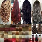 100% New Real Clip In Hair Extensions Hairpiece Hair Extentions Human Thick T1v