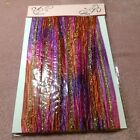 New Craft Clearout 5m Sari Ribbon Pink / Purple / Orange with Gold inlay