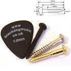 Guitar tremolo mounting screws in chrome black or gold 3.5mm x 25mm dome head