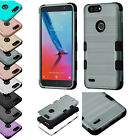 ZTE BLAZE ZMAX PRO 2 SEQUOIA BRUSHED TUFF CASE HYBRID RUGGED RUBBER COVER+STYLUS