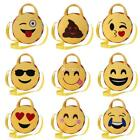 New Fashion Children Kids Round Plush Expression Handbags Play Crossing DZ88