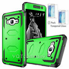 For Samsung Galaxy On5 Hybrid Dual Layer Protective Case Cover+Tempered Glass