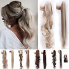 Lady Clip In Ponytail Pony Tail Hair Extension Jaw Claw On Piece Curly Wavy Fgb