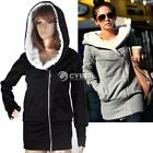 Hot Womens Long Sleeve Zip Up Tops Hoodie Coat Jacket Outerwear New 03