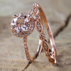 Women Shiny Round Inlaid Zircon Finger Ring Bridal Wedding Jewelry Gift Cheap