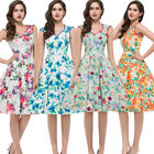 Xmas Cocktail Retro 50s Floral Causal Evening Party TEA Dress Lady Swing Dress