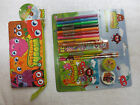 MOOSHI MONSTERS SCHOOL 3 POCKET PENCIL CASE + STATIONERY SET GIFT