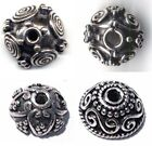 2 .925 Silver Bali Ornate Spirally Design Bead Caps Your Choice of Style