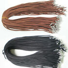10pcs DIY Black Brown Suede Leather String Necklace Cord Chain Jewelry Making