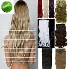Hair Extensions Curly Straight Synthetic feel & move like human 8pcs Full Head