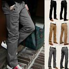 Winter Men Formal Business Casual Work Pants Fit Straight Leg Skinny Trousers