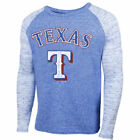 Texas Rangers Majestic Threads Mens Double Face Thermal Slub Raglan Thermal