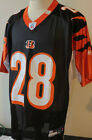 #28 Bernard Scott Cincinnati Bengals Black MENS NFL Football Jersey Med New 36