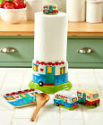 Retro Happy Camper Kitchen Counter Accents Paper Towel Holder or Measuring Set