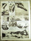 1921 newspaper 1st Mt Everest Expedition + AIRSHIP EXPLODES in England 43 KILLED