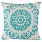 Turquoise Blue Premium Throw PILLOW COVER Sofa Couch Vintage Cushion Case 18x18""