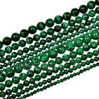 4mm 6mm 8mm 10mm 12mm Natural Malachite Gemstone Round Spacer Loose Beads 15.5""