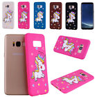 Bling Cute Unicorn Pattern Soft TPU Protective Case Cover for Samsung S6 S7 Edge