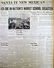3 1937 newspapers WORST SCHOOL DISASTER Explosion kills 295 in NEW LONDON Texas