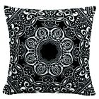 """2 Pack Navy Blue White Throw PILLOW CASE Sofa Couch Bed CUSHION COVER 18x18"""" USA"""