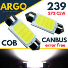 Cob Led High Power 6w 239 272 C5w No Error Number Plate Reg Light Bulbs White
