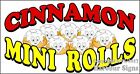 (CHOOSE YOUR SIZE) Mini Cinnamon Rolls DECAL Concession Food Truck Sticker
