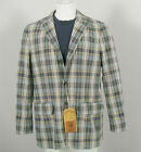 NEW Polo Ralph Lauren Madras Sportcoat (Jacket)!  Casual Weathered Appearance